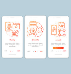 Ar tool subscription onboarding mobile app page vector