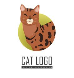 Bengal cat flat design vector