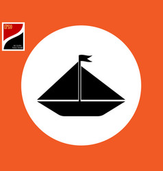 black sailing icon vector image