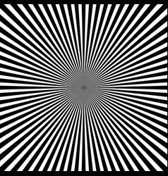 black white radial rays monochrome sunburst vector image