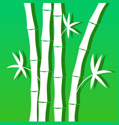 blue green background with bamboo for banner vector image