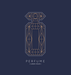 bottle perfume linear image perfume to vector image