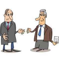 business negotiations cartoon vector image