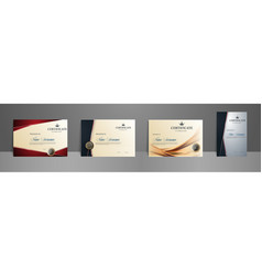 certificate best award diploma set vector image