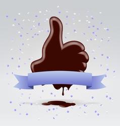 Choco like hand vector