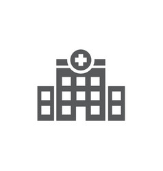 Clinic icon on white background vector