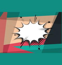 comic book geometric pop art speech bubble vector image