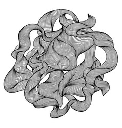 design with wave line curls vector image