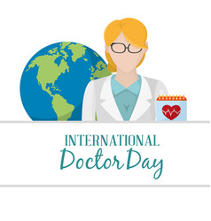 Doctors day design vector