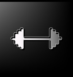 Dumbbell weights sign gray 3d printed vector