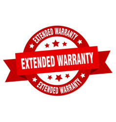 extended warranty ribbon extended warranty round vector image