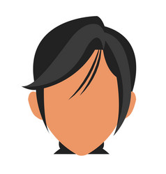 Face woman business avatar faceless concept vector