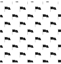 Flag pattern simple style vector image