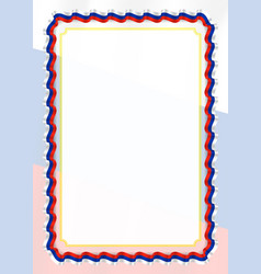 Frame and border of ribbon with russia flag vector