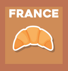 France culture card with croissant vector