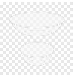 Glass bowl transparent vector