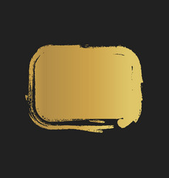 golden grunge vintage painted rectangle shapes vector image