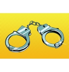 handcuffs arrest crime vector image