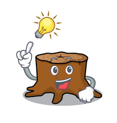 have an idea tree stump mascot cartoon vector image