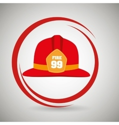 helmet fire hat icon vector image