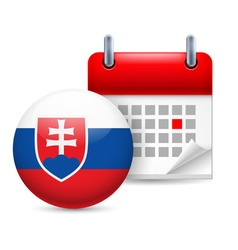 Icon of national day in slovakia vector