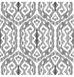 Ikat seamless pattern in damask style vector