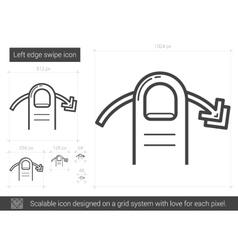 Left edge swipe line icon vector image