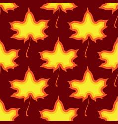 maple leaves seamless red dark art vector image