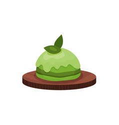 Matcha green tea sweet dessert element of chinese vector