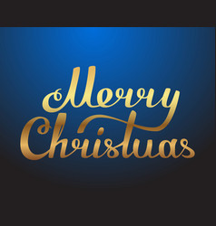 Merry christmas hand made lettering gold texture vector