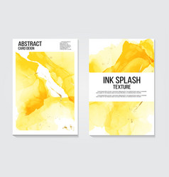 modern alcohol ink watercolor abstract covers set vector image