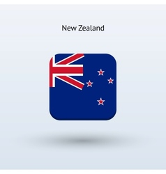 New Zealand flag icon vector image