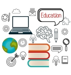 Online learning isolated icon design vector