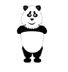 Panda holding a guns vector