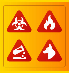 Prohibition signs industry production vector