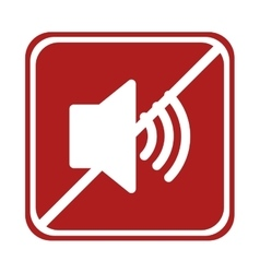 Restricted speaker sound volume square sign vector
