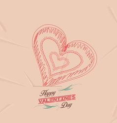 Retro heart for valentines day background vector