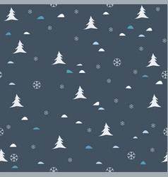 scattered trees tree landscape seamless background vector image