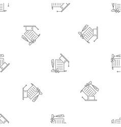 school diploma pattern seamless vector image