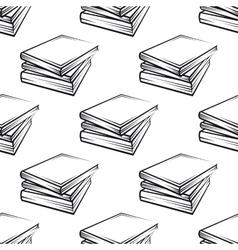 Seamless books pattern vector