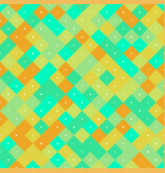 seamless pattern with yellow and turquoise pixel vector image