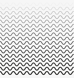 seamless wave lines pattern halftone vector image