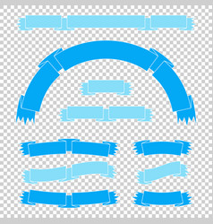 Set of colored ribbon banners with space for text vector
