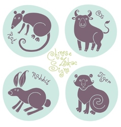 set signs chinese zodiac vector image