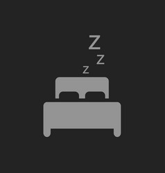 sleeping concept bed icon on black vector image