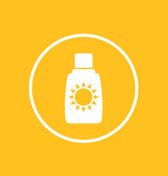 sunscreen suntan lotion icon vector image