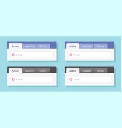 Tabs ui design or tabbed menu website template set vector