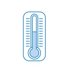 termometer measure isolated icon vector image