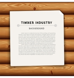 Timber Industry Background vector image