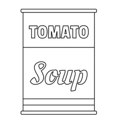 Tomato soup can icon outline style vector